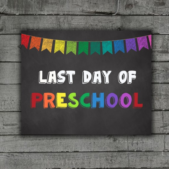 It's just a photo of Simplicity Last Day of Preschool Printable