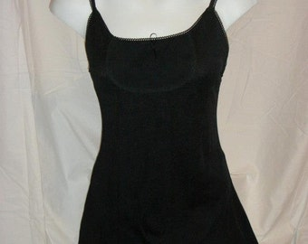 Top, black woman, stretch knit Camisole