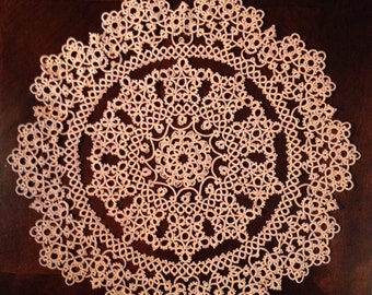 Tatted lace doily