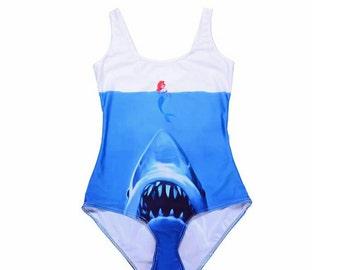 Ariel inspired Swimsuit - Mermaid/Jaws/Disney/One piece/Swimwear. **2-3 week wait**