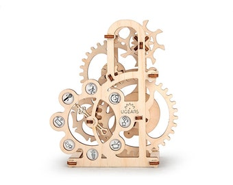 UGears Dynamometer mechanical wood model KIT 3D puzzle Assembly, Self-propelled
