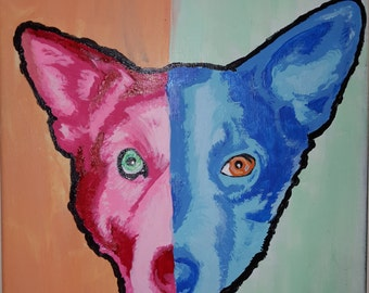 Made to Order Pet Color Pop Painting