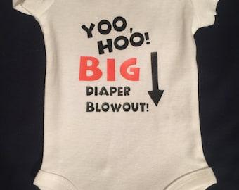 Onesie w/ Yoo, Hoo! BIG Diaper Blowout!!!