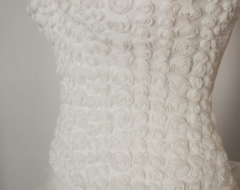 Elastic short weddind dress