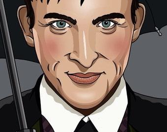 Oswald Cobblepot Gotham Illustration Matte Coated Illustrated Print