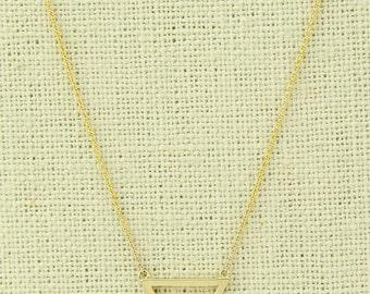 Triangle Pendant Necklace 14K Solid Gold Necklace Unique Necklace Minimalist Necklace Layering Necklace
