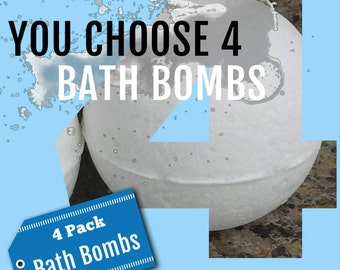 Bath Bomb Variety Pack Four Pack Bath Bombs