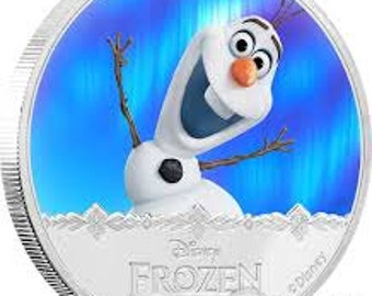 2016 Olaf 1 oz Plated sliver (Colorized)