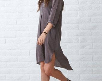 Tunic, caftan dress, dress with pockets, bohemian dress, boho dress, sheer tunic, cover up, kaftan, silk caftan, layer, pockets, layering