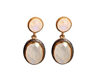 Myriam Moonstone 925 Silver earrings
