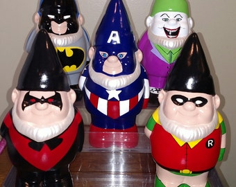 Custom made to order gnome, handmade & hand-painted!