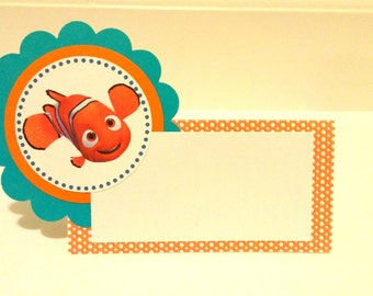 Finding Nemo Tented Food Labels or Place Cards
