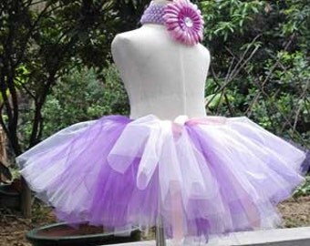Baby girls handtied fluffy tulle skirt set #GT16003