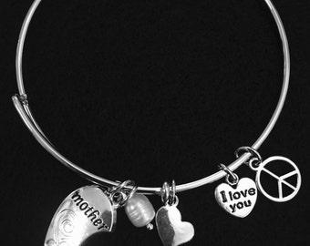 Bracelets Mother Daughter Bracelets  | 2 Matching Mother Daughter Bracelet | Bangle Bracelet | Charm Bracelet |