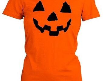 Funny pumpkin face t-shirt