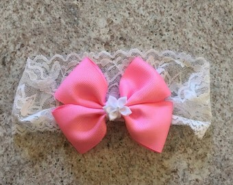 Double Bow,  headband or hair bow