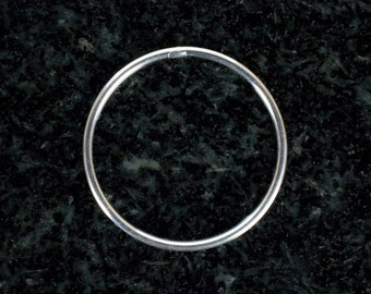 20.5mm Sterling Silver 18ga CLOSED Jump Rings, Made in India