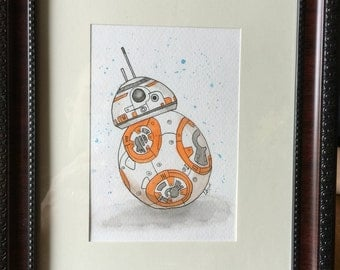 Original watercolor of a Star Wars droid of your choice!