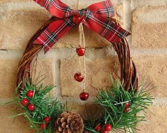 Handmade Rustic Woven Christmas Wreath