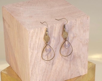 Natural pearls of /earrings grey Agate earrings