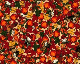 "Harvest time Autumn Fall 100% cotton 43"" Fabric by the yard,g33"