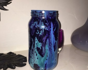 Voilet,blue,green revamped jar