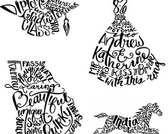 Your Custom Print! | unique gift | drawing | lettering | home decor