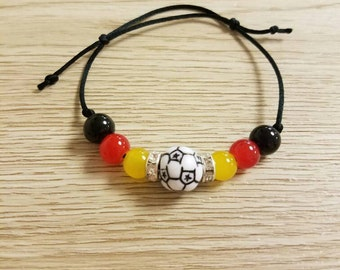 Handmade Germany  Soccer Friendship Bracelet