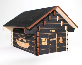 Log Cabin Puzzle - Personalized!
