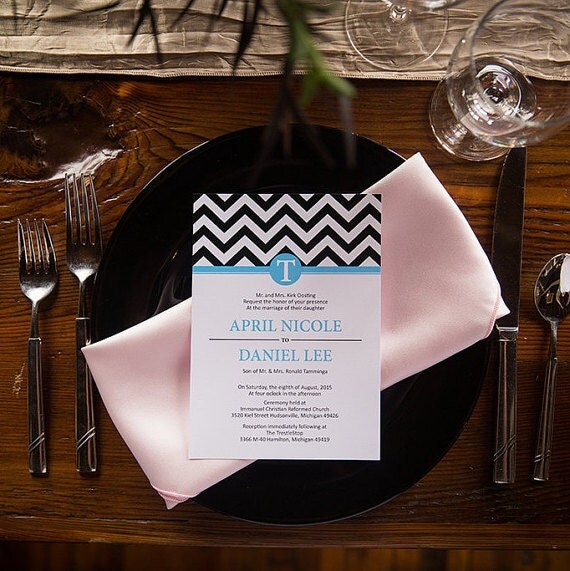 Stand out with Chevron Wedding Invitation + RSVP