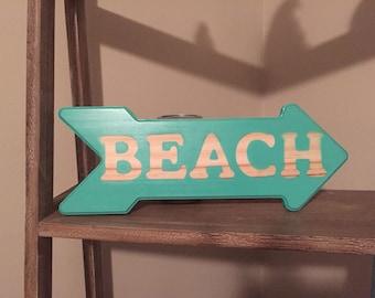 Handmade Beach Sign