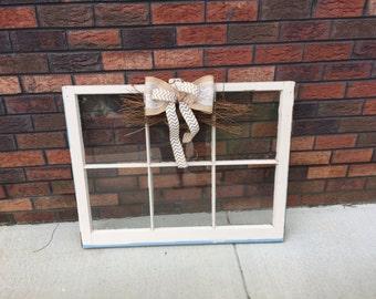 Home decor window panes, wall decor, rustic, vintage charm