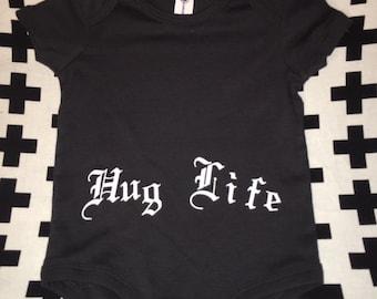 Black Hug Life Baby Onesie