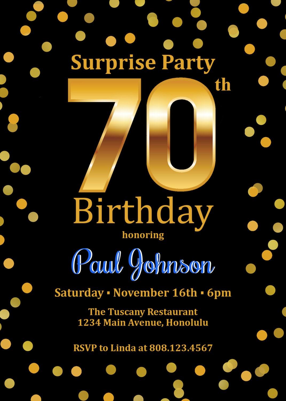 Adult Surprise Birthday Invitations Image collections - Invitation ...