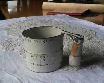 Antique Mini Two Cup Flour Sifter Lilly's Flour By Erickson