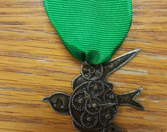 Steampunk bird medal