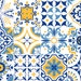 """Vinyl decal self-adhesive Portuguese sticker Tiles, Staircase Riser, ALFAMA Mix Collection (Pack of 12) (6""""x6""""