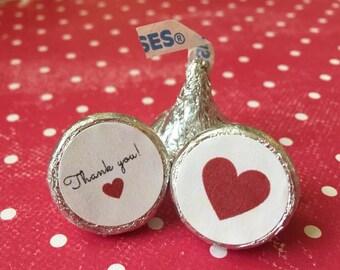 Hershey kiss stickers, wedding favor