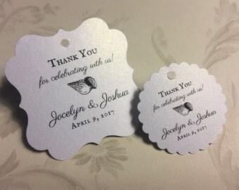Beach themed wedding, wedding favor tags, thank you tags