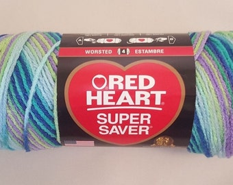 Red Heart Super Saver WILDFLOWER 5 oz Weight Medium 4