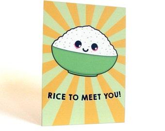 A6 Kawaii Rice Bowl Postcard Print