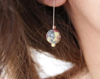 Earrings handmade ⋆ multicolor shell Pearl