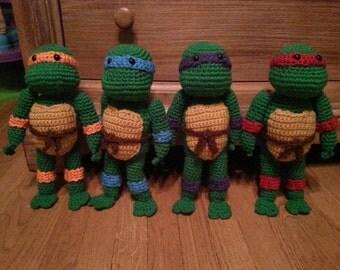 Crocheted Teenage Mutant Ninja Turtle Doll