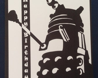 Birthday card Dr Who style