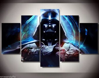 Star wars Darth Vader print poster canvas decoration 5 pieces