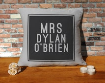 Dylan Obrien Cushion Pillow - Silver Grey - 100% cotton - 16x16 inches