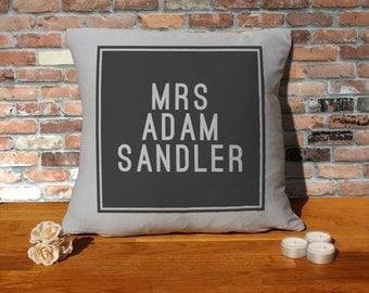 Adam Sandler Cushion Pillow - Silver Grey - 100% cotton - 16x16 inches