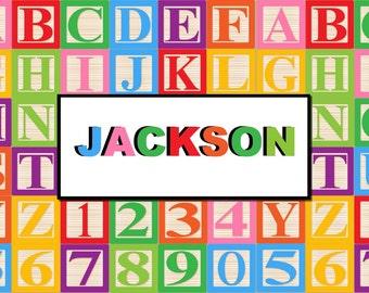 Alphabets Personalized Placemat