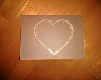 Love heart greetings card