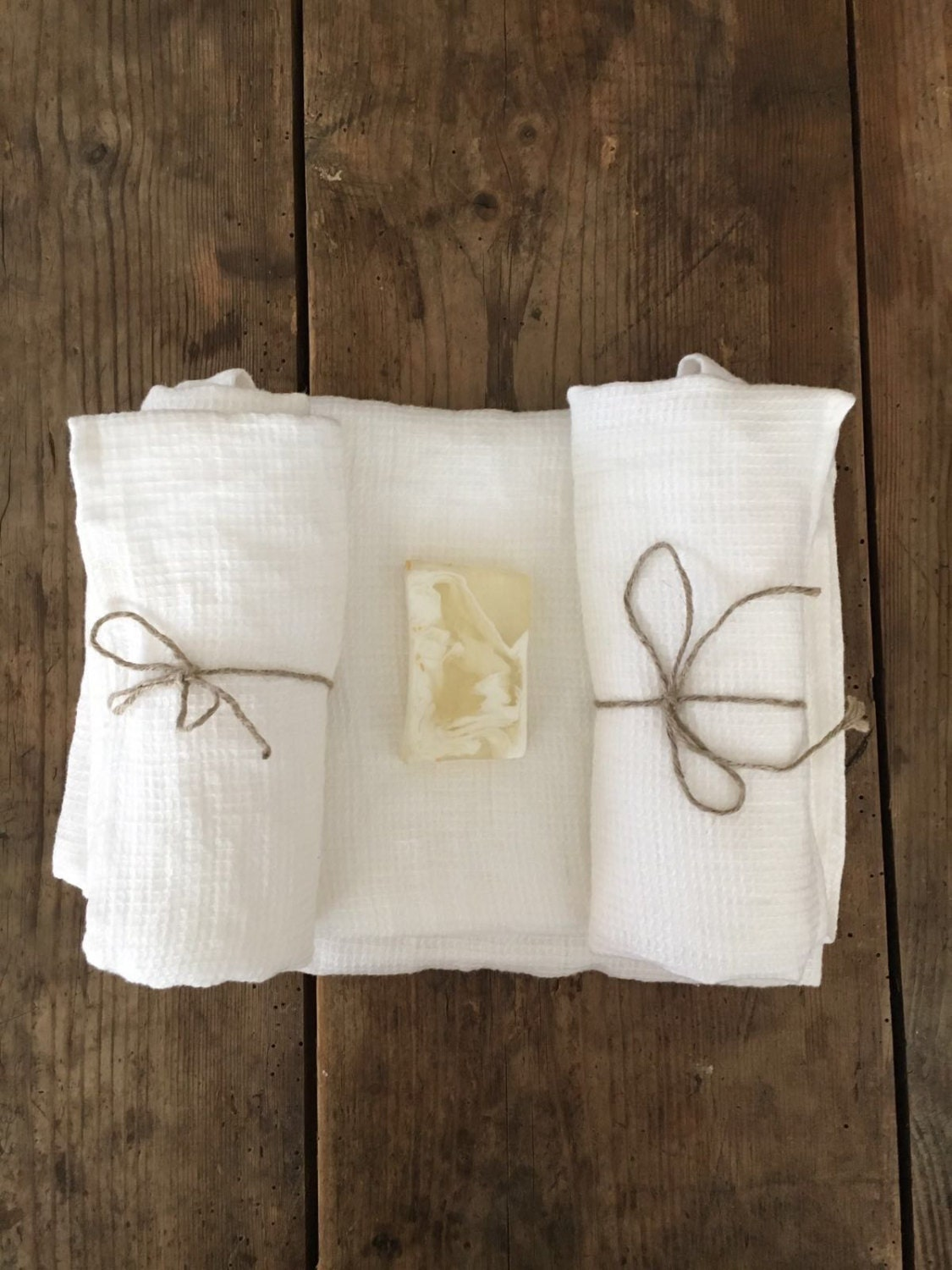 white linen towels, waffle towels, set of waffle bath towels with